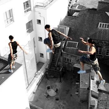 Daniel Jumping Building